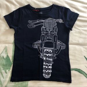 Egg motorcycle graphic tee